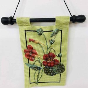 Nasturtiums-beaded-tapestry