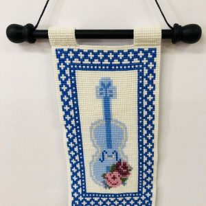 blue-violin-beaded-tapestry