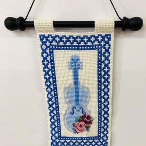 blue-violin-beaded-tapestry