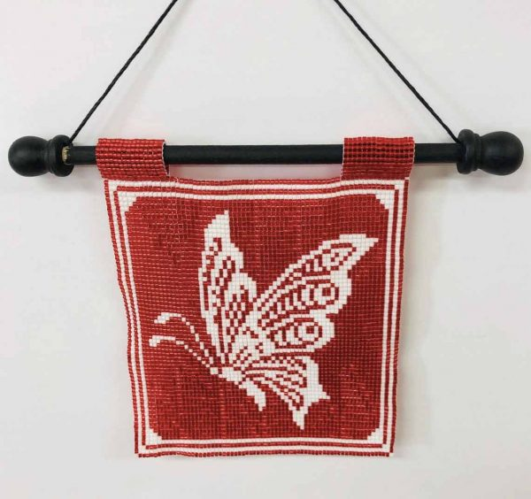 butterfly-silhouette-beaded-tapestry