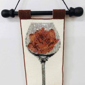 rose-in-wine-beaded-tapestry