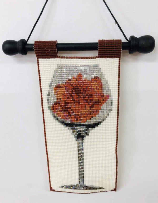 rose-in-wine-beaded-tapestry
