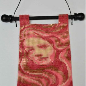pink-lady-clear-beaded-tapestry