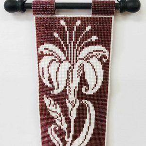 white-lily-beaded-tapestry